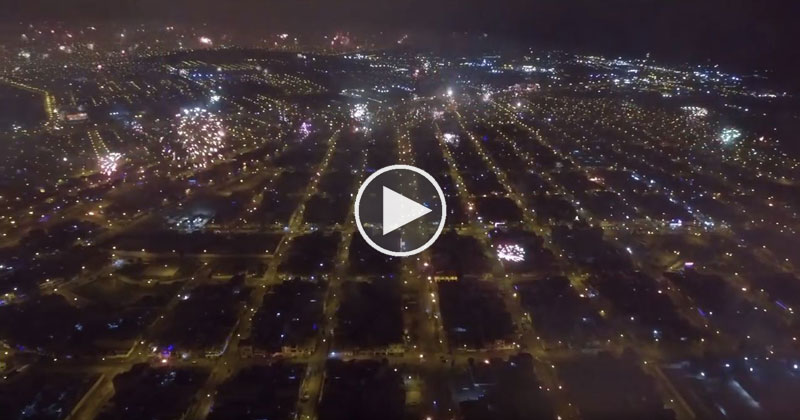 Drone Captures Amazing NYE Fireworks Across the Entire City of Lima