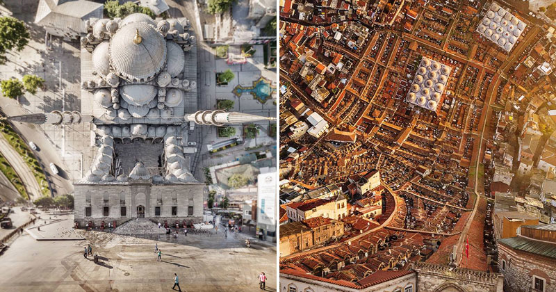 Artist Turns His Photos of Istanbul Into Inception-like Dreamscapes (12 Photos)