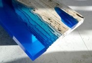 A Coffee Table Lagoon Made from Marble and Resin