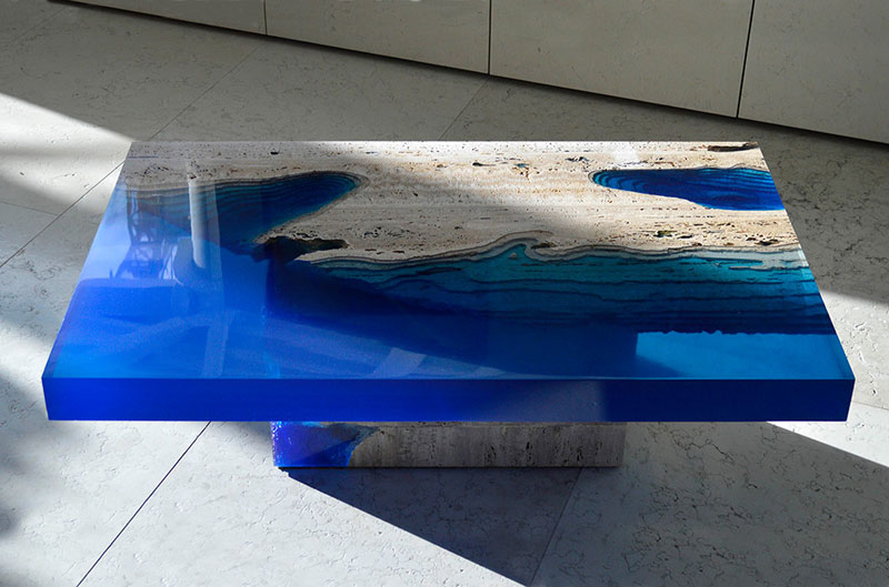 lagoon table made from marble and resin by LA Table (8)