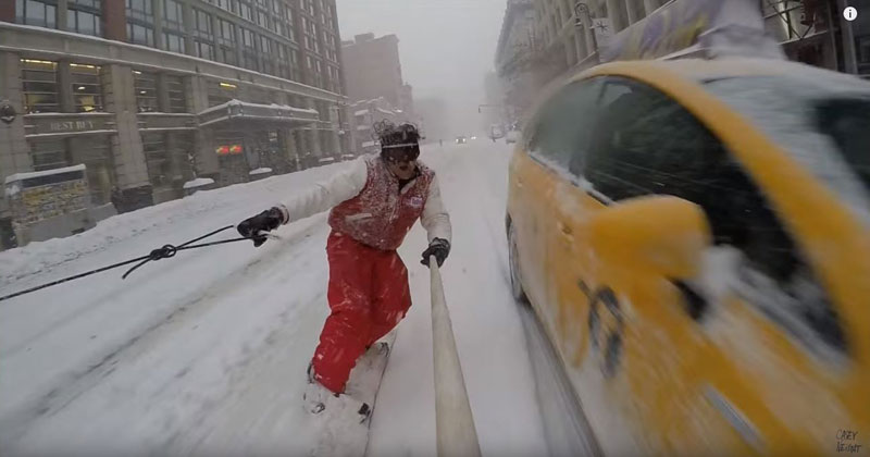 When There's a Blizzard in New York, Go Snowboarding