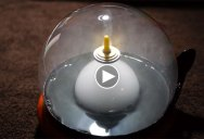 A Levitating Top, Inside a Bubble, Filled With Smoke… For Science!