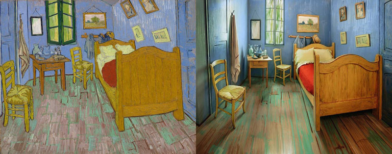 AIC Museum Recreates Van Gogh Bedroom Painting and Puts it on Airbnb (2)