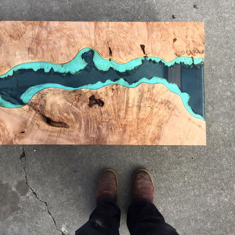 artist gregory klassen wood glass rivers lakes furniture (2)