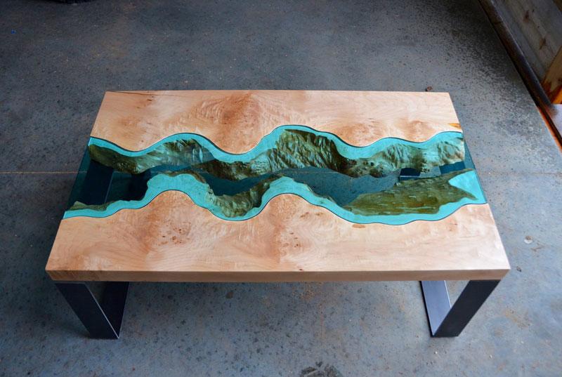 artist gregory klassen wood glass rivers lakes furniture (3)