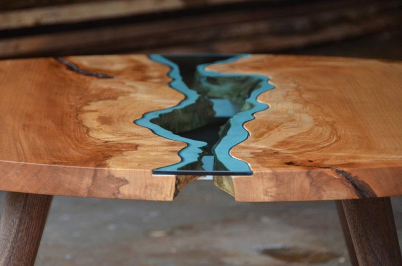 artist gregory klassen wood glass rivers lakes furniture (7)