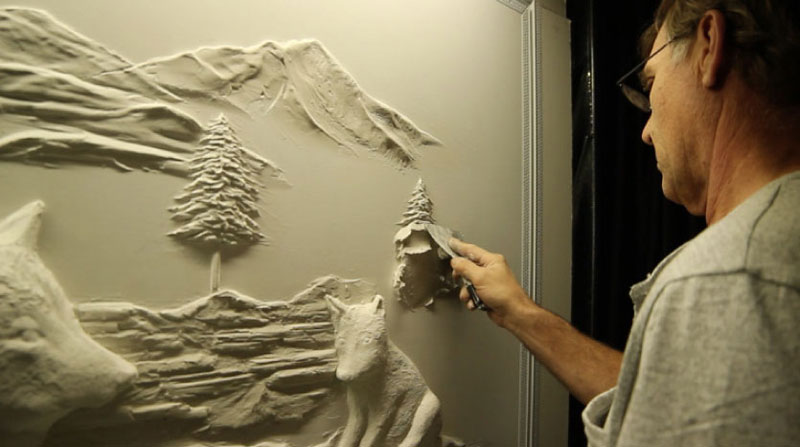 berne mitchell turns drywall into art with joint compound (3)