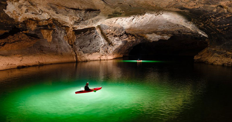 Exploring One of the World's Largest River Caves with a Kayak and Drone