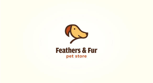 feathers and fur logo negative space 15 Logos That Found a Creative Use for Negative Space