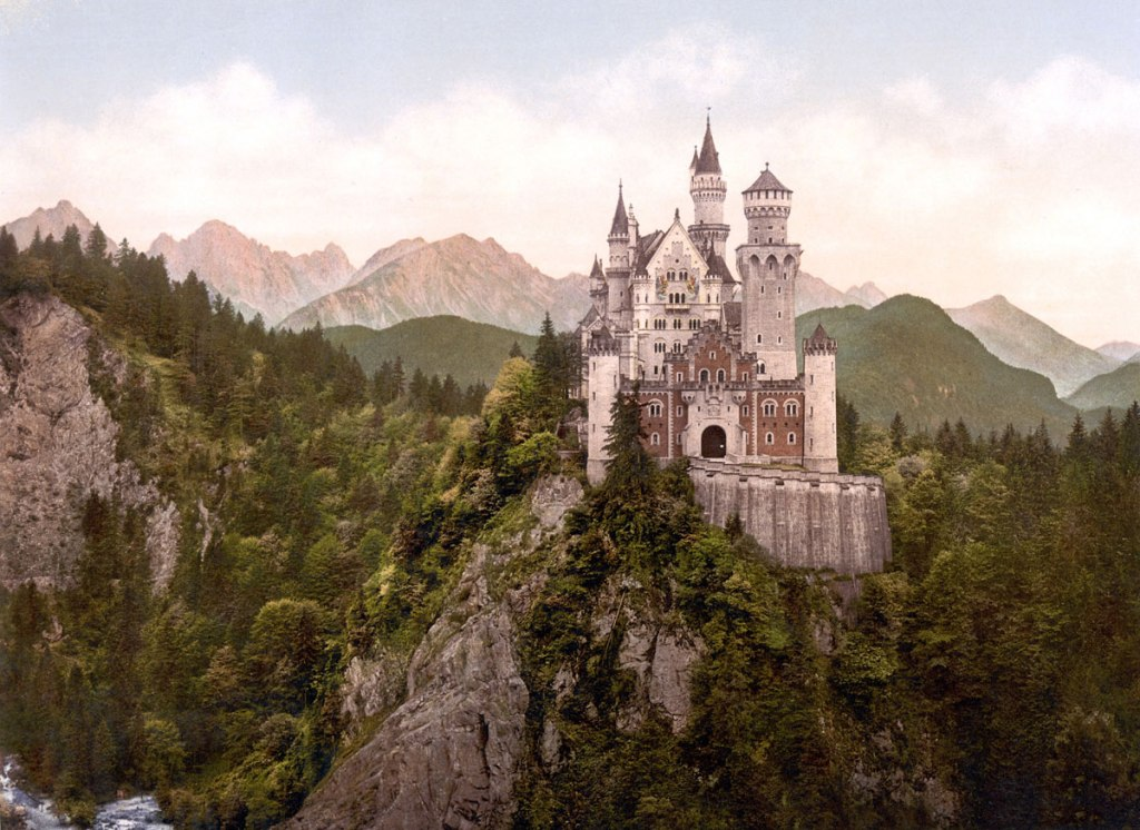 Picture of the Day: Neuschwanstein Castle circa 1900, 10 Years After It Was Built
