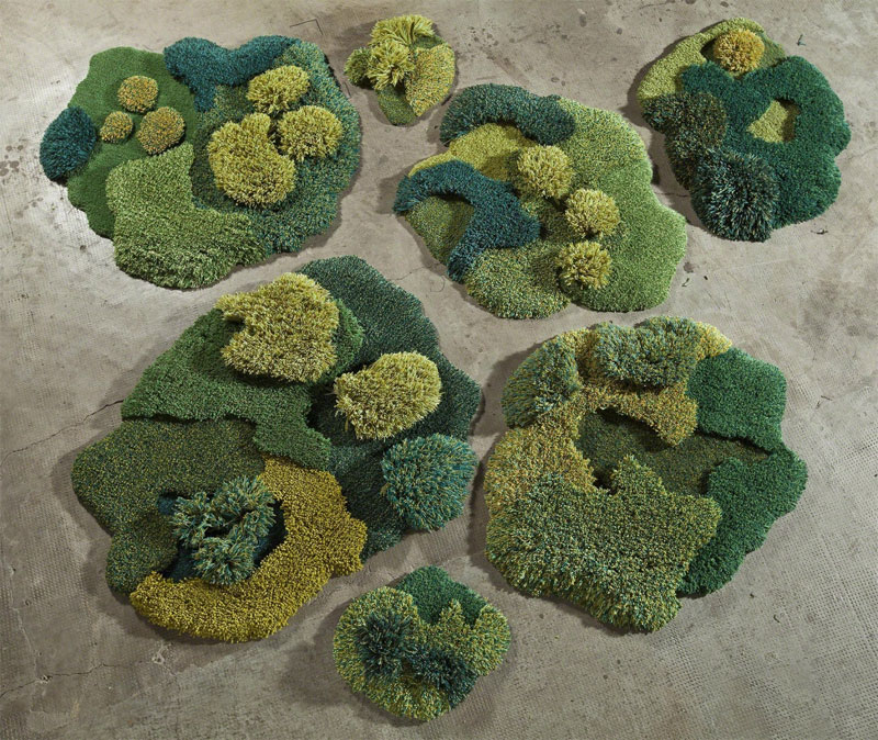 One-of-a-Kind Rugs That Look Like Lush Green Landscapes by alexandra kehayoglou (10)