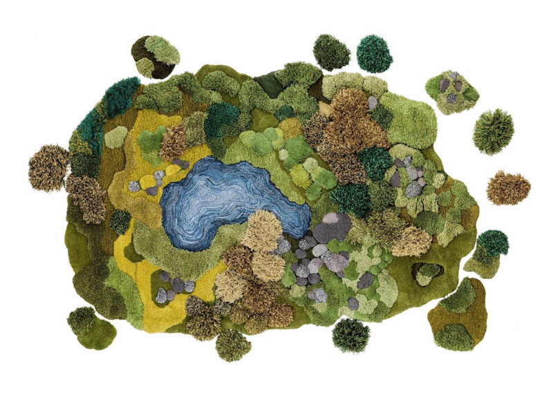 One-of-a-Kind Rugs That Look Like Lush Green Landscapes by alexandra kehayoglou (11)