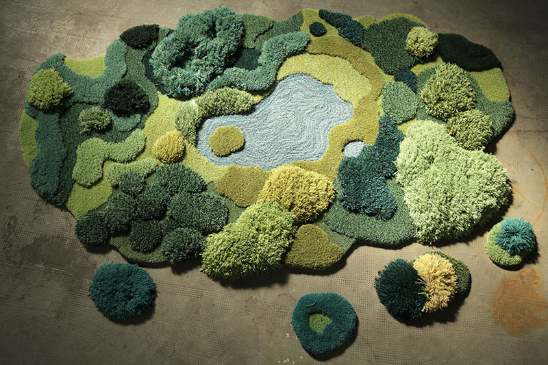 One-of-a-Kind Rugs That Look Like Lush Green Landscapes by alexandra kehayoglou (14)