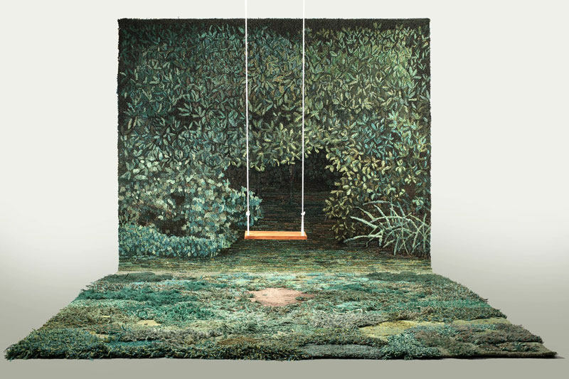 One-of-a-Kind Rugs That Look Like Lush Green Landscapes by alexandra kehayoglou (2)