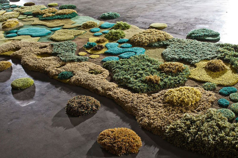 One-of-a-Kind Rugs That Look Like Lush Green Landscapes by alexandra kehayoglou (8)