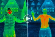 Thermal Imaging Camera Shows How and Where Human Body Loses Heat