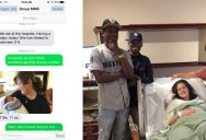Baby Announcement Gets Texted to Wrong Number. Guy Shows Up With Gifts Anyway