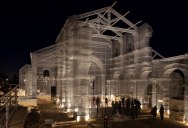 Artist Resurrects Ancient Building Site with Incredible Wire Mesh Installation