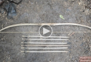 Guy Makes Bow and Arrow With His Bare Hands