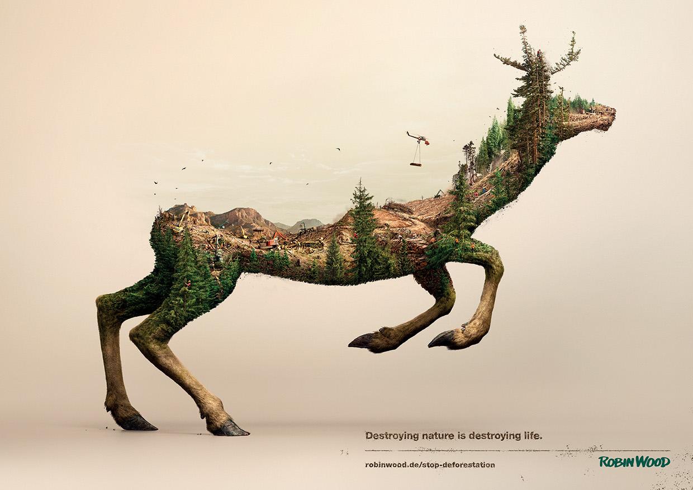 Illustrations Show How Destroying Nature Destroys Life (8)