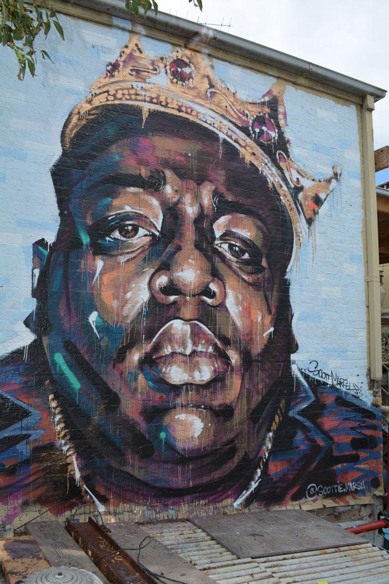 kanye making out with kanye meme street art spray paint mural by scott marsh (6)