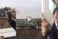 Paper Airplane Goes for 20 Second Flight and Returns to Owner