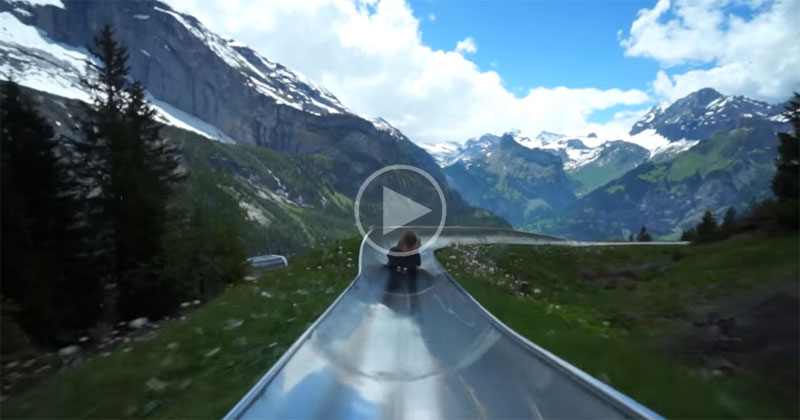 Take a Ride on a Switzerland Mountain Coaster