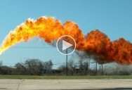 50 ft Flamethrower in Super Slow Motion 4K