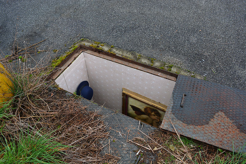 BIANCOSHOCK Installs Miniature Rooms Into Abandoned Manholes in ITALY (2)