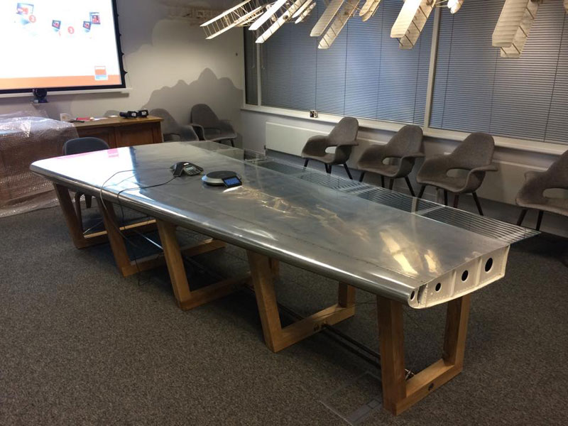 fallen furniture made from old salvaged and reclaimed airplane parts (4)