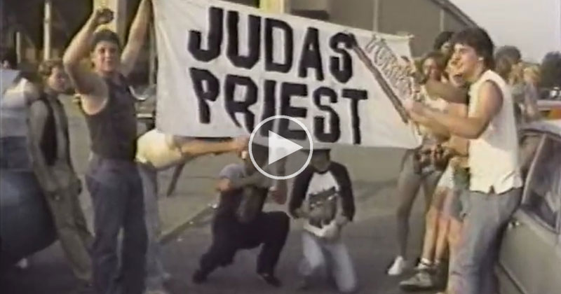 In 1986 Two Guys Filmed the Parking Lot Scene Outside a Judas Priest Concert and It's Amazing