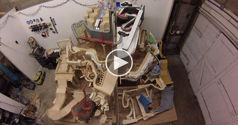 Homemade Kinetic Marble Mountain is 12′ x 8′ of Awesomeness
