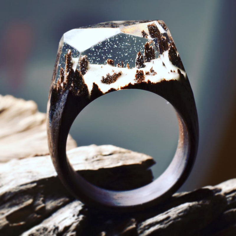 Miniature Landscapes Inside Rings of Wood and Resin by Secret Wood (4)