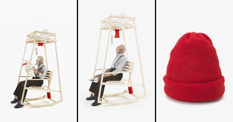 This Rocking Chair Knits You a Hat as You Rock Back and Forth