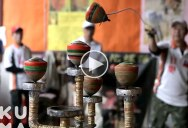 So Throwing Spinning Tops is a Thing and These Guys are Amazing at It!