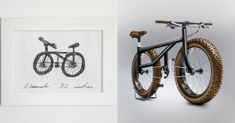 Artist Asks People to Draw a Bicycle from Memory and Renders the Results