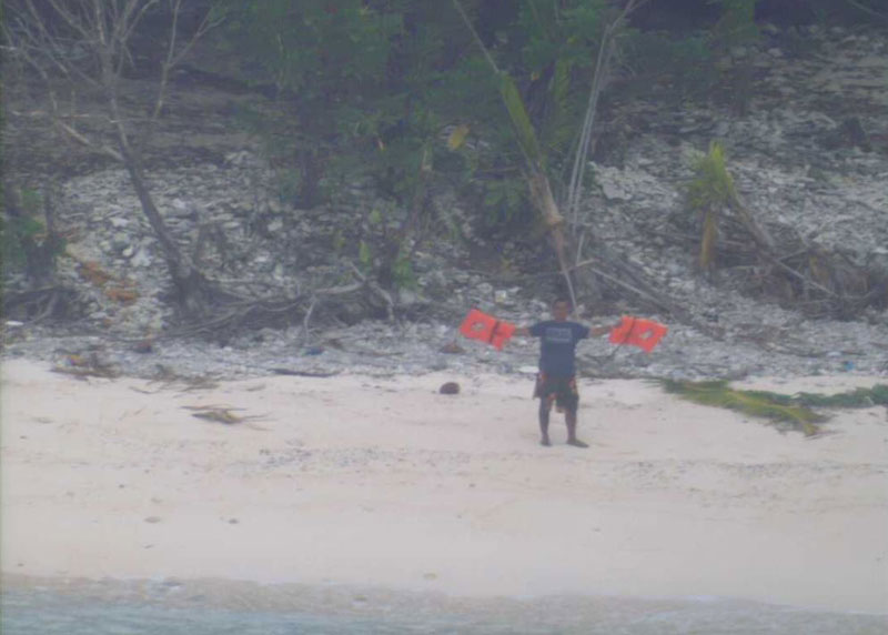 Aircraft Spots HELP Sign on Beach, Rescues 3 Men Stranded on Remote Island (1)