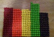 Picture of the Day: The Color Distribution of a Party Size Skittles Bag