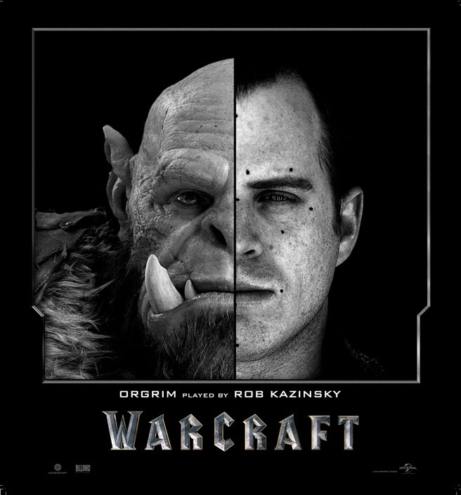 Split Face Portraits of Warcraft Actors and Their CGI Counterpart (5)