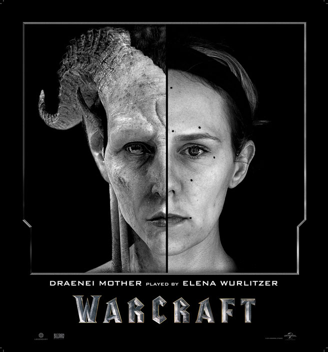 Split Face Portraits of Warcraft Actors and Their CGI Counterpart (9)
