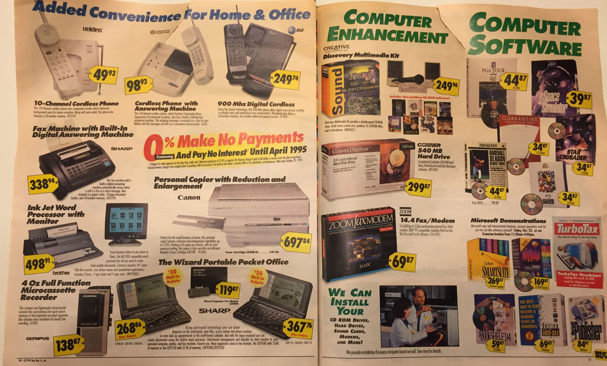 This Best Buy Flyer from 1994 Shows How Fast Technology Has Changed (6)