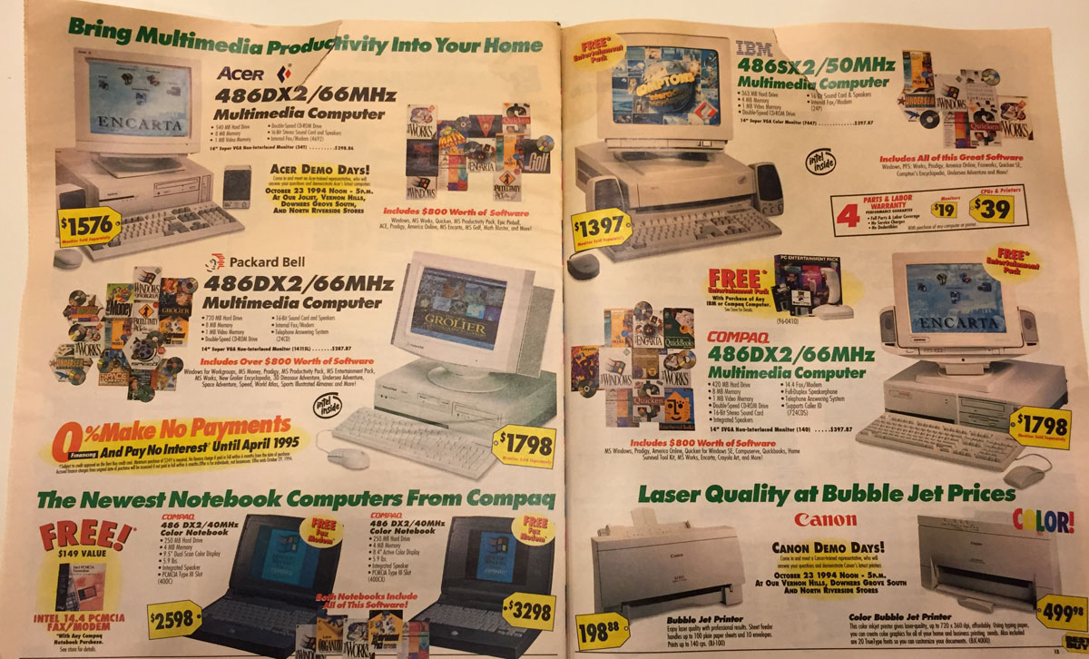 This Best Buy Flyer From 1994 Shows How Fast Technology Has Changed Twistedsifter