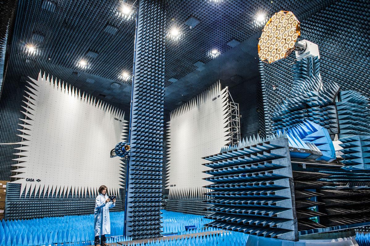 where satellites get tested esa netherlands Picture of the Day: The Room Where Satellites Get Tested