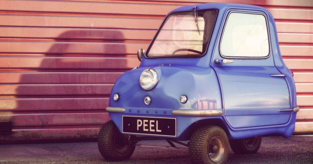 Built in 1962, the World's Smallest Car has One Door, One Headlight and Manual Reverse