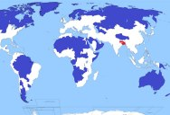5% of the World Lives in the Blue Shaded Regions. Another 5% Lives in the Red