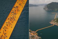 Floating Yellow Brick Road Connects Islands and Towns Separated by Water