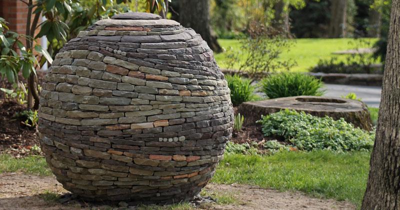 Amazing Dry Stone Garden Spheres by Devin Devine