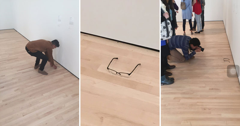 Guy Puts His Glasses on the Museum Floor and People Thought It Was Art