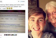Polite Grandmother Says 'Please' and 'Thank You' When Using Google