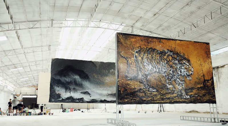splattered ink animal paintings by chen yingjie aka hua tunan (1)